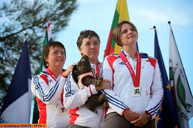 Sophie Cluze podium Championnat du Monde Sassari 2013